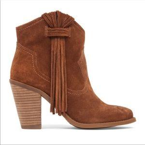 Jessica Simpson   Colver Suede Western Booties 8.5